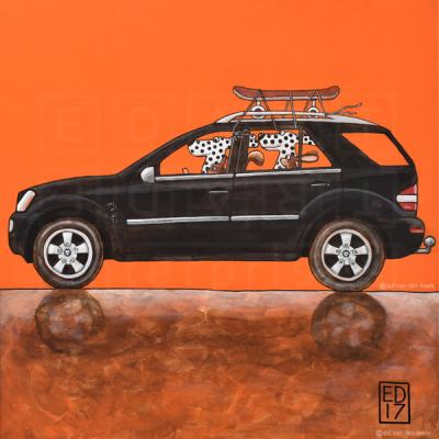 Mercedes ML320 Dalmatian Dogs and squirrel and hare.
