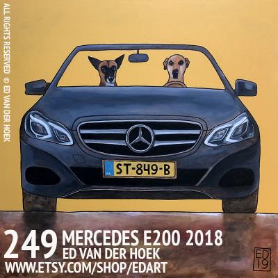249 MERCEDES E200. Painting dog in a VW by Ed van der Hoek.